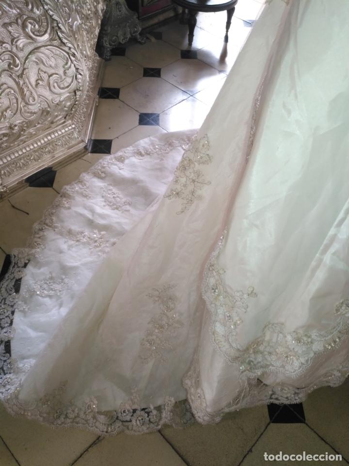 Antigüedades: traje novia SWEETHEART BORDADO y tul bordado hilo plata confecciones ropa virgen semana santa - Foto 34 - 174062165