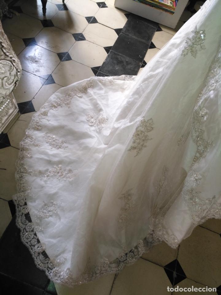 Antigüedades: traje novia SWEETHEART BORDADO y tul bordado hilo plata confecciones ropa virgen semana santa - Foto 35 - 174062165