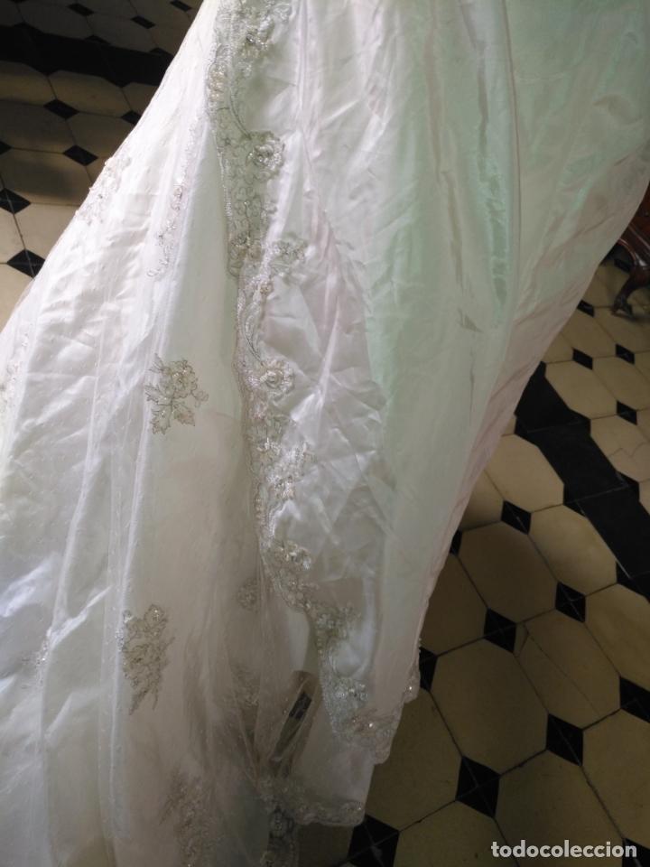 Antigüedades: traje novia SWEETHEART BORDADO y tul bordado hilo plata confecciones ropa virgen semana santa - Foto 36 - 174062165