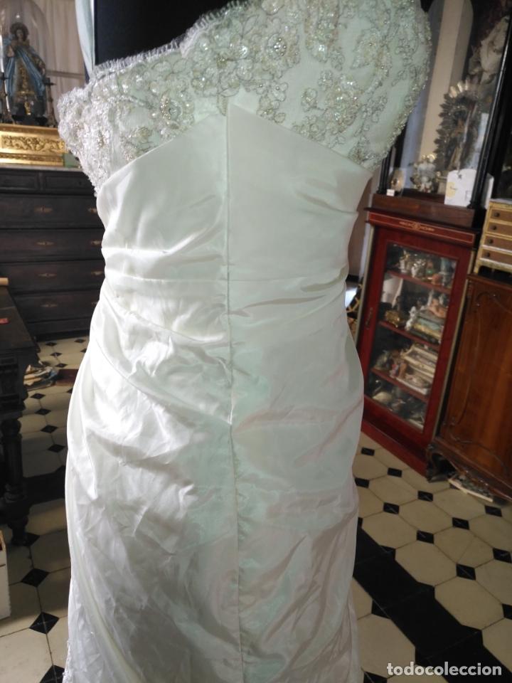Antigüedades: traje novia SWEETHEART BORDADO y tul bordado hilo plata confecciones ropa virgen semana santa - Foto 37 - 174062165