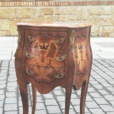 Antigüedades: IMPRESIONANTE CÓMODA BOMBE LOUIS XV SIGLO XIX MARQUETERÍA. Lote 174064244