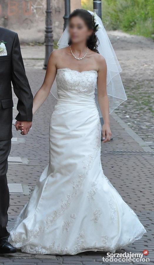 Antigüedades: traje novia SWEETHEART BORDADO y tul bordado hilo plata confecciones ropa virgen semana santa - Foto 2 - 174062165