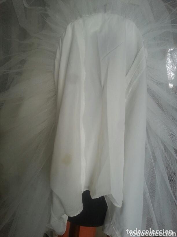 Antigüedades: traje novia SWEETHEART BORDADO y tul bordado hilo plata confecciones ropa virgen semana santa - Foto 39 - 174062165