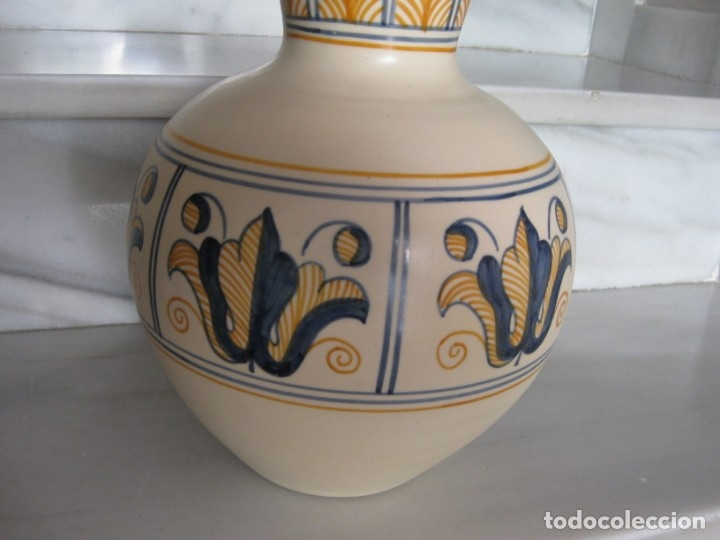 Antigüedades: Jarrón cerámica. Chacon. Talavera - Foto 2 - 174070132