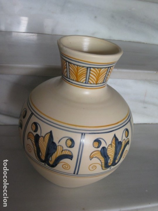 Antigüedades: Jarrón cerámica. Chacon. Talavera - Foto 3 - 174070132