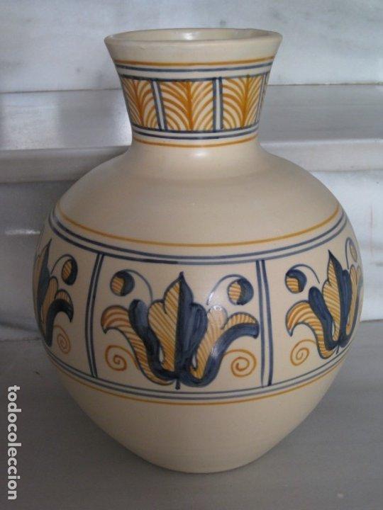 Antigüedades: Jarrón cerámica. Chacon. Talavera - Foto 5 - 174070132