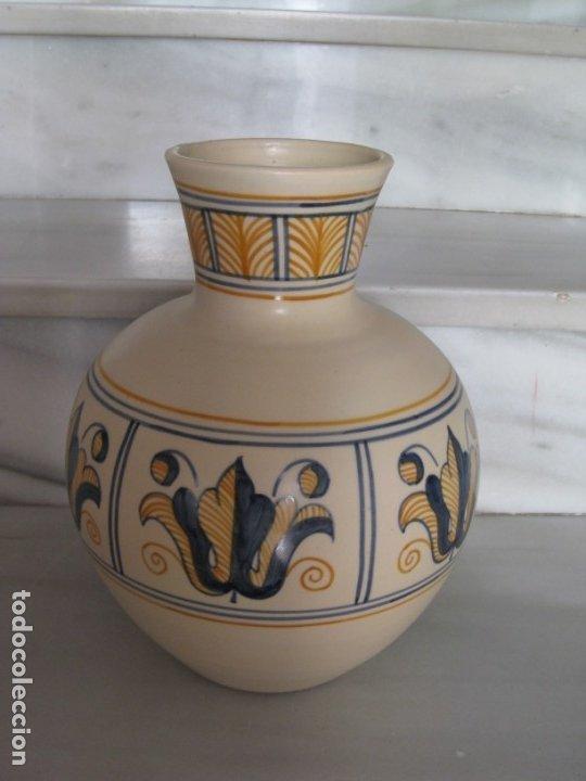 Antigüedades: Jarrón cerámica. Chacon. Talavera - Foto 9 - 174070132