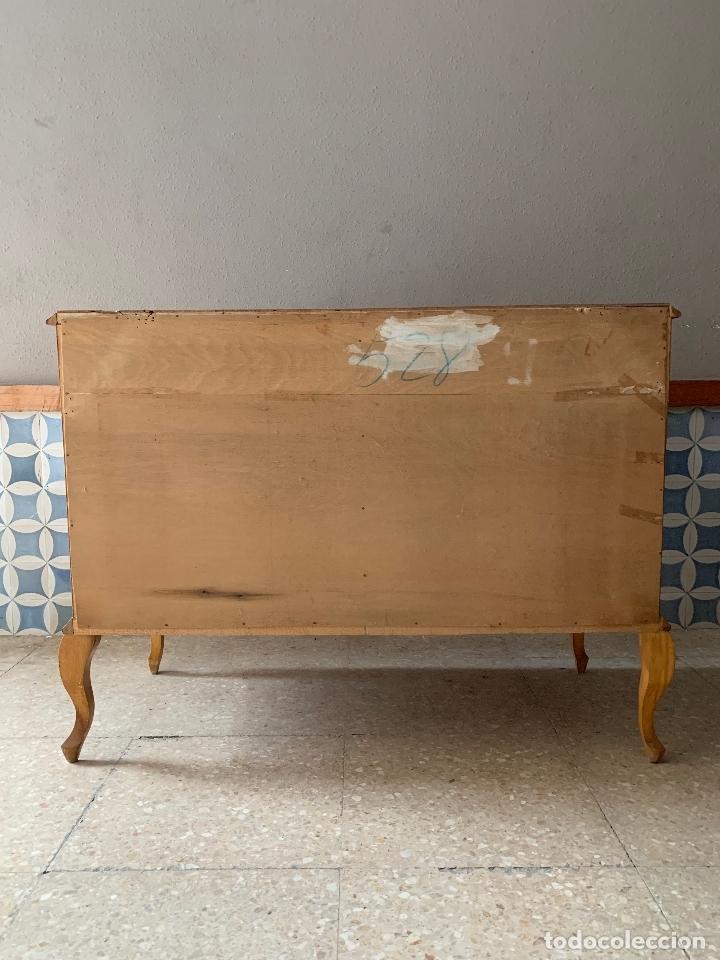 Antigüedades: COMODA DE HABITACION O TOCADOR, CON ESPEJO A JUEGO, 103,50 CM. DE LARGA - Foto 18 - 174071258