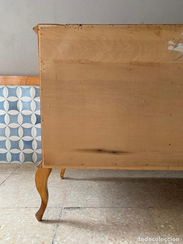 Antigüedades: COMODA DE HABITACION O TOCADOR, CON ESPEJO A JUEGO, 103,50 CM. DE LARGA - Foto 20 - 174071258