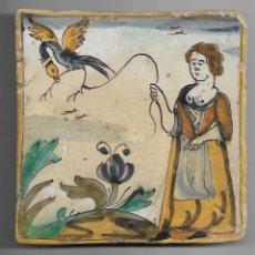 Antigüedades: BALDOSA DE ARTS I OFICIS SIGLO XVIII. Lote 174075850