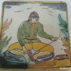 Antigüedades: ANTIGUO AZULEJO CATALÁN - RAJOLA CATALANA, ORIGINAL - ARTES Y OFICIOS. Lote 174078917