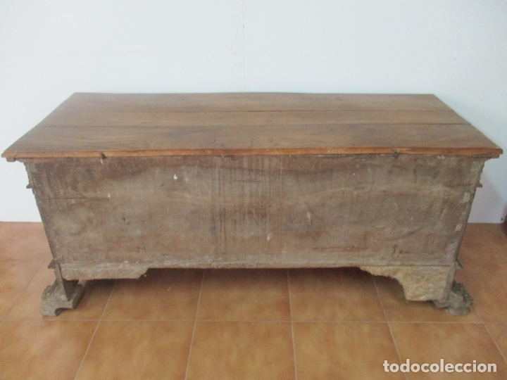 Antigüedades: Antigua Arca, Arcón Catalán - Baúl Barroco - Madera de Nogal - S. XVIII - Foto 11 - 174081169