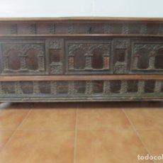 Antigüedades: ANTIGUA ARCA, ARCÓN CATALÁN - BAÚL BARROCO - MADERA DE NOGAL - S. XVIII. Lote 174081169