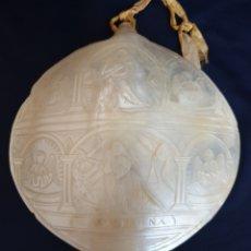 Antigüedades: PRECIOSA CONCHA ANTIGUA DE NACAR,MADRE PERLA,CON ESCENA BIBLICA,S. XIX. Lote 174090583