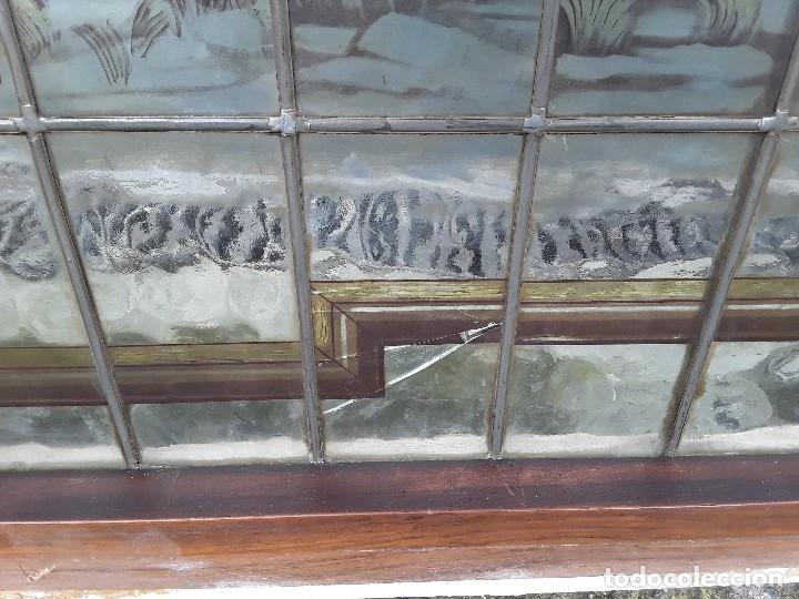Antigüedades: Vidriera emplomada, medio punto, Sa Maumejean Hnos. - Foto 2 - 174101378