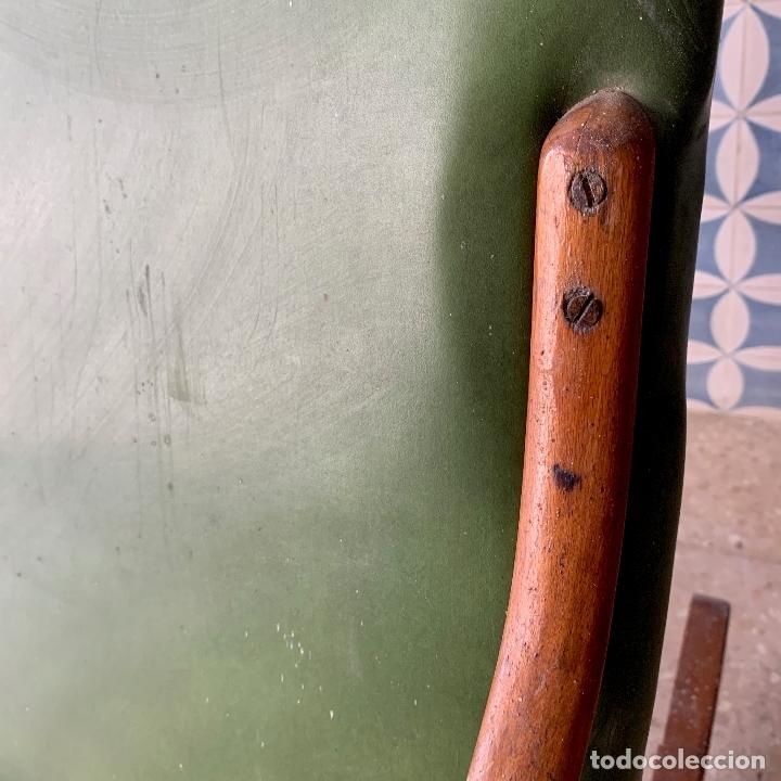 Antigüedades: MECEDORA ESTILO THONET DE TELA EN RESPALDO Y ASIENTO, MUY COMODA - Foto 7 - 174117882
