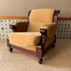 Antigüedades: SILLON DE MADERA PARA RESTAURAR, AÑOS 80. Lote 174120624