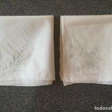 Antigüedades: ANTIGUOS PAÑUELOS DE HILO FINO CON BORDADO. Lote 174134858