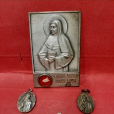 Antigüedades: S. MARIA SOLEDAD TORRES ACOSTA, BEATA RAFAELA MARIA Y BEATO V. DE BARRIO OCHOA, 4 MEDALLAS RELICARIO. Lote 174135694