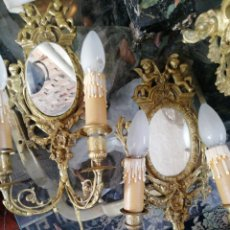 Antigüedades: ANTIGUAS CORNUCOPIAS EN BRONCE, IDEAL PARA RETRATO. Lote 174152790