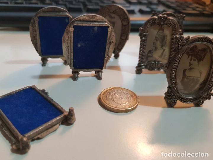Antigüedades: Lote de 7 Pequeños y antiguos portafotos - Foto 7 - 174154873