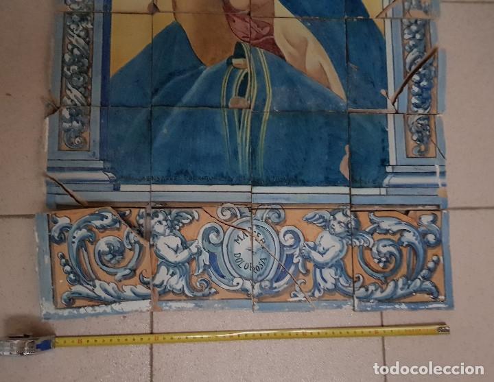 "Antigüedades: RETABLO CERAMICO ""Mater Dolorosa"" de Mensaque Triana Sevilla 1918 -1920 Maestro M. Morilla - Foto 2 - 174156723"