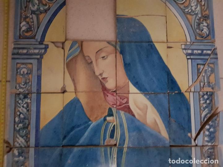 "Antigüedades: RETABLO CERAMICO ""Mater Dolorosa"" de Mensaque Triana Sevilla 1918 -1920 Maestro M. Morilla - Foto 3 - 174156723"
