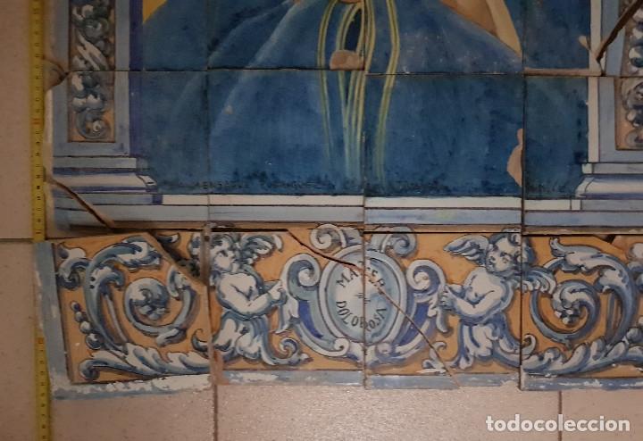 "Antigüedades: RETABLO CERAMICO ""Mater Dolorosa"" de Mensaque Triana Sevilla 1918 -1920 Maestro M. Morilla - Foto 4 - 174156723"