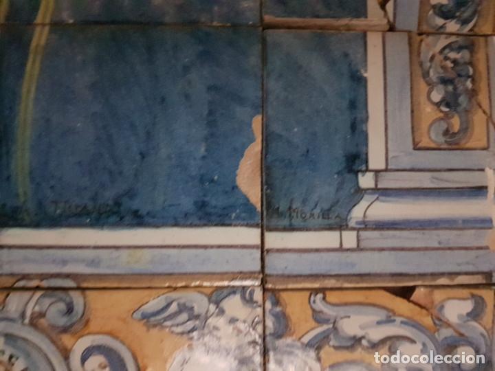"Antigüedades: RETABLO CERAMICO ""Mater Dolorosa"" de Mensaque Triana Sevilla 1918 -1920 Maestro M. Morilla - Foto 5 - 174156723"
