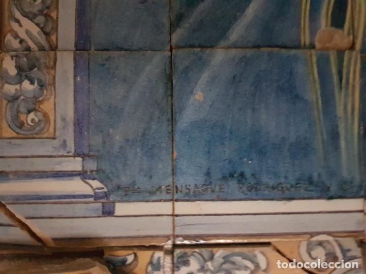 "Antigüedades: RETABLO CERAMICO ""Mater Dolorosa"" de Mensaque Triana Sevilla 1918 -1920 Maestro M. Morilla - Foto 6 - 174156723"
