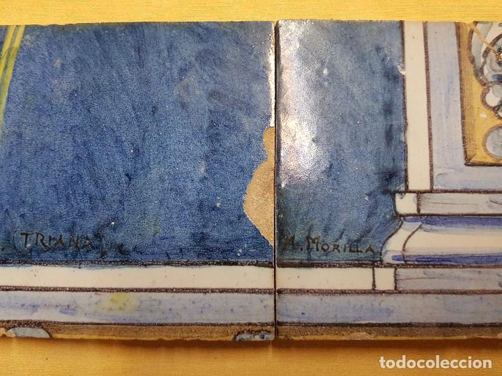 "Antigüedades: RETABLO CERAMICO ""Mater Dolorosa"" de Mensaque Triana Sevilla 1918 -1920 Maestro M. Morilla - Foto 10 - 174156723"