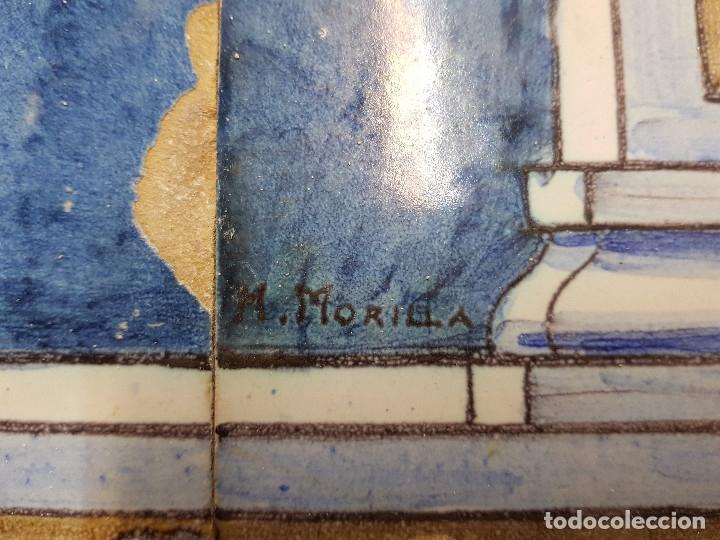 "Antigüedades: RETABLO CERAMICO ""Mater Dolorosa"" de Mensaque Triana Sevilla 1918 -1920 Maestro M. Morilla - Foto 11 - 174156723"