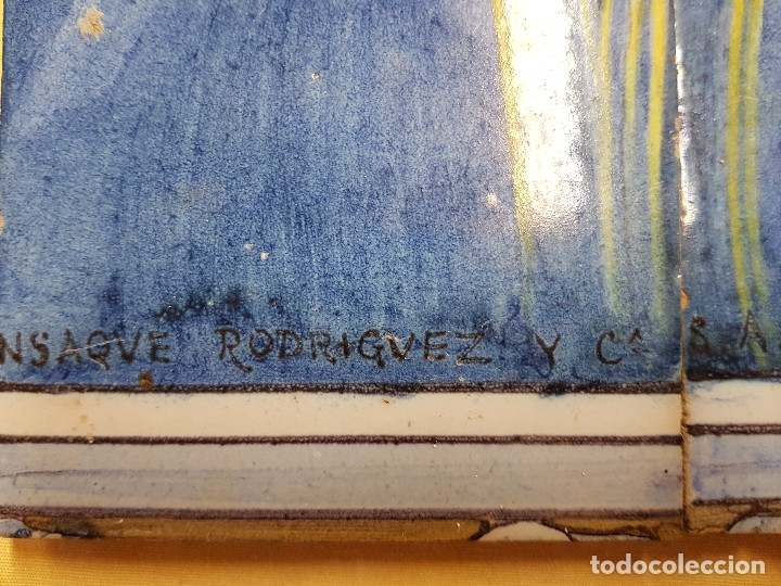 "Antigüedades: RETABLO CERAMICO ""Mater Dolorosa"" de Mensaque Triana Sevilla 1918 -1920 Maestro M. Morilla - Foto 13 - 174156723"