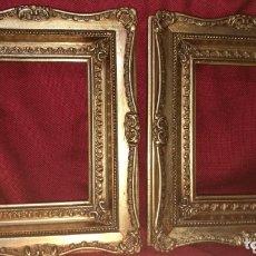 Antigüedades: BONITOS MARCOS DORADOS EN PAN DE ORO. Lote 174161649