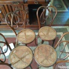 Antigüedades: JUEGO CUATRO SILLAS TIPO THONET. Lote 174168913