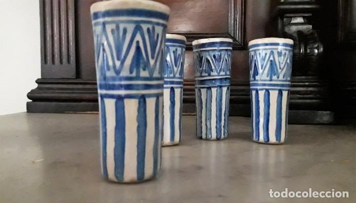 4 CATAVINOS ANTIGUOS DE CERÁMICA. ALFARERÍA DE TRIANA 1920. (Antigüedades - Porcelanas y Cerámicas - Triana)