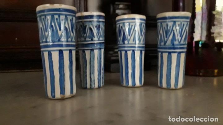 Antigüedades: 4 CATAVINOS ANTIGUOS DE CERÁMICA. ALFARERÍA de TRIANA 1920. - Foto 4 - 174195389