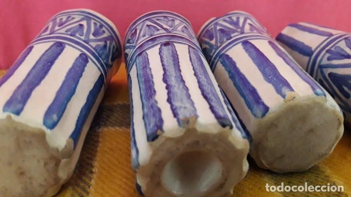 Antigüedades: 4 CATAVINOS ANTIGUOS DE CERÁMICA. ALFARERÍA de TRIANA 1920. - Foto 5 - 174195389