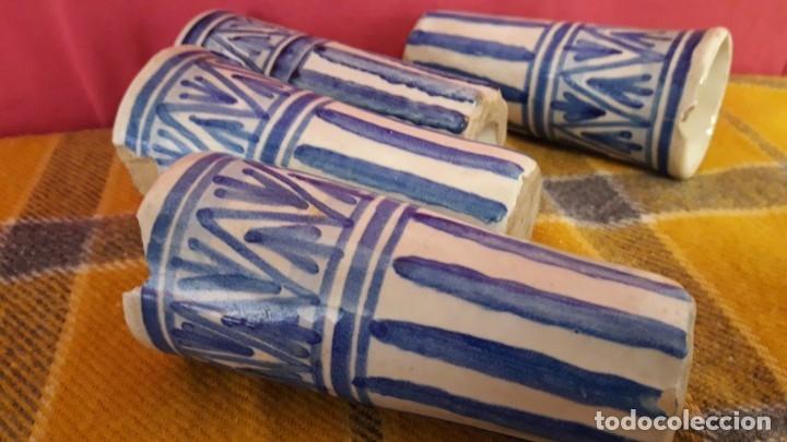 Antigüedades: 4 CATAVINOS ANTIGUOS DE CERÁMICA. ALFARERÍA de TRIANA 1920. - Foto 6 - 174195389