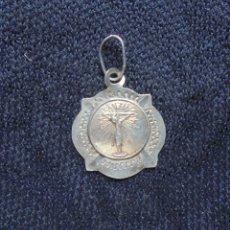 Antigüedades: MEDALLA PLATA CRISTO DE LA SANGRE, PALMA DE MALLORCA. Lote 174216187