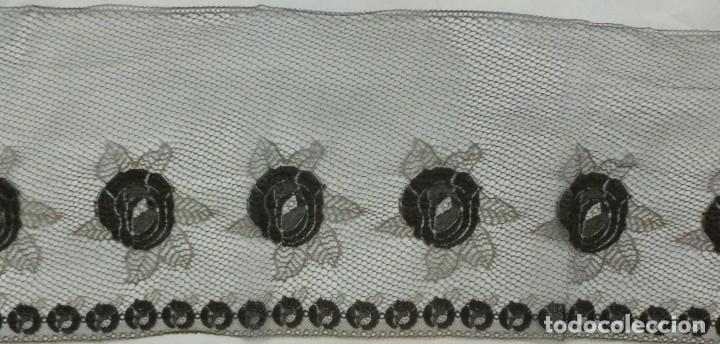 Antigüedades: ANTIGUO ENCAJE FRANCÉS PERFILADO CON HILO DE ORO - 1900 - Foto 4 - 174235972