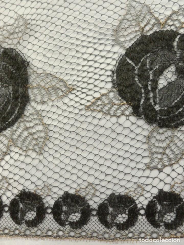 Antigüedades: ANTIGUO ENCAJE FRANCÉS PERFILADO CON HILO DE ORO - 1900 - Foto 6 - 174235972