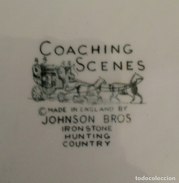 Antigüedades: PLATO COACHING SCENES - JOHNSON BROS - ENGLAND. - Foto 3 - 174236970