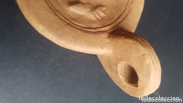 Antigüedades: Réplicas lampara de aceite lucerna de cerámica estilo romano - Foto 3 - 174238312