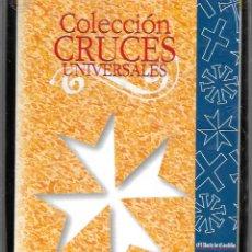 Antigüedades: COLECCION EN ESTUCHE DE 16 CRUCES UNIVERSALES CON LIBRETO EXPLICATIVO VER FOTOS. Lote 174257895