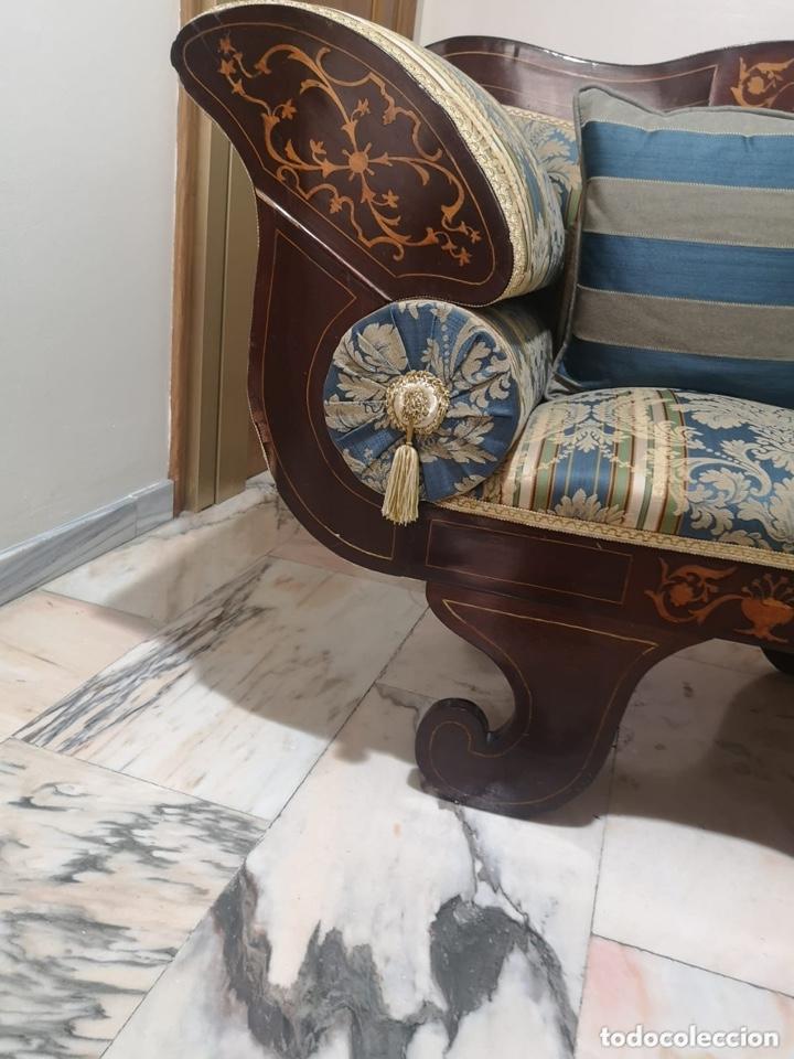 Antigüedades: Sillón tapizado con marquetería - Foto 13 - 171538632