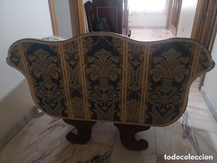 Antigüedades: Sillón tapizado con marquetería - Foto 15 - 171538632