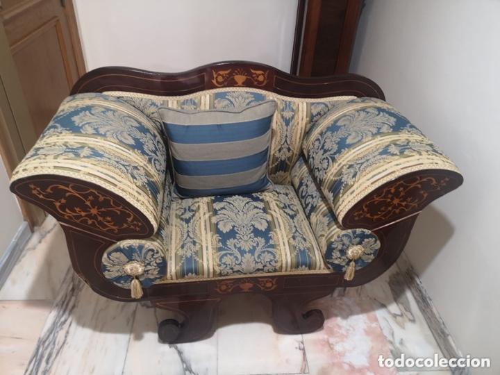 Antigüedades: Sillón tapizado con marquetería - Foto 16 - 171538632