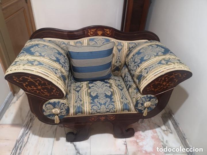 Antigüedades: Sillón tapizado con marquetería - Foto 17 - 171538632