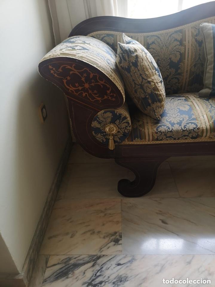 Antigüedades: Sofá tapizado con marquetería - Foto 11 - 171538733